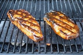 Steak with an apple cinnamon marinade.