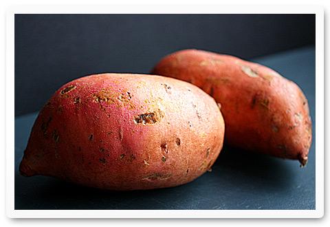 Two large sweet potatoes