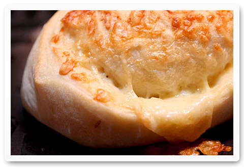 crusty cheese-stuffed rolls
