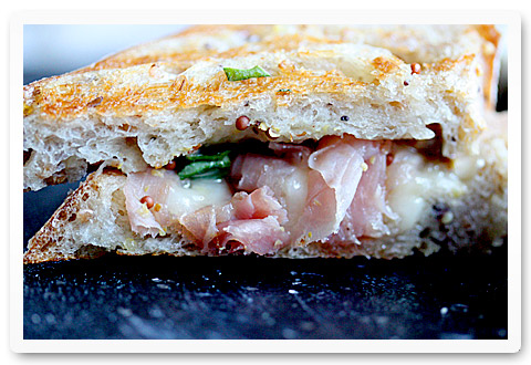 Grilled Cheese with Honey and Prosciutto