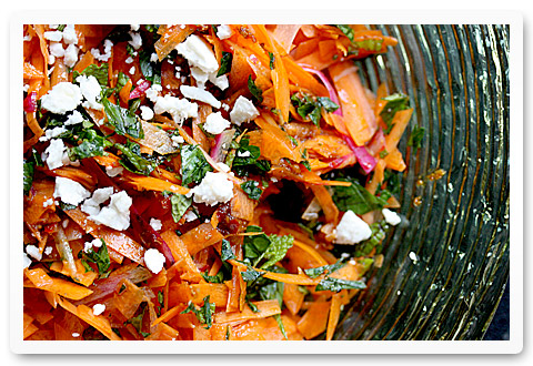carrot and harissa salad