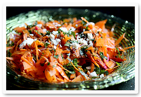 carrot and harissa salad